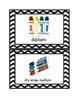 Chevron Print School Supply Labels