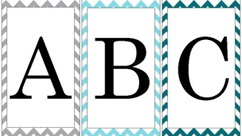 Chevron Printable A-Z Alphabet