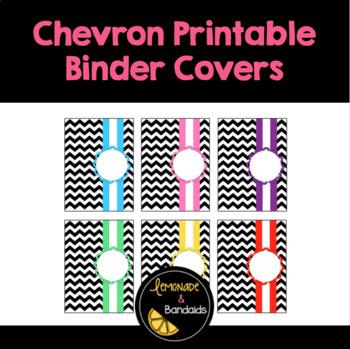 Chevron Printable Binder Covers