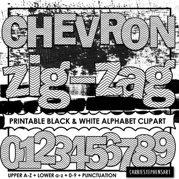 picture relating to Free Printable Clip Art Letters identified as Chevron Printable Bulletin Board Letters - Coloring Alphabet ClipArt PNG