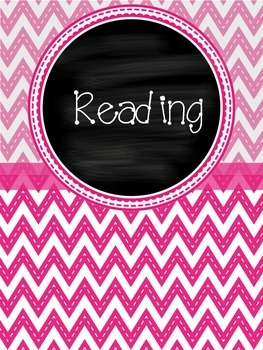 Chevron Printed Chalkboard Binder Covers With Spines