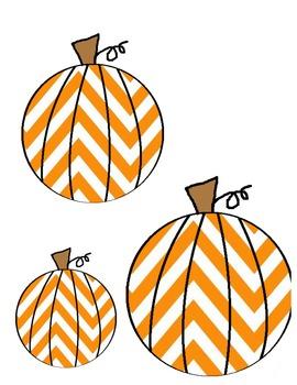 Chevron Pumpkins Printable
