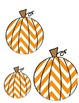 Chevron Pumpkins Printable