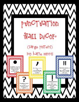 {Chevron} Punctuation Wall Decor