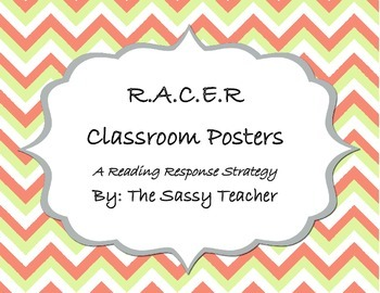 Chevron R.A.C.E.R. Reading Response Strategy Posters