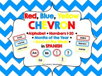 Chevron RBY Spanish ABC, Numbers 1-20, Days of the Week and Months of the year