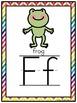 Chevron Rainbow Classroom Décor Poster Bundle