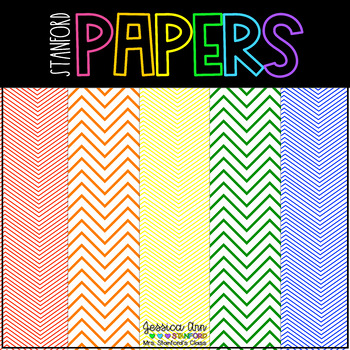 Digital Papers Chevron Rainbow {114 backgrounds for personal and commercial use}