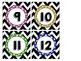 Chevron Rainbow Polka Dot Calendar Numbers