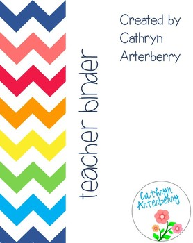 Chevron Rainbow Teacher Binder