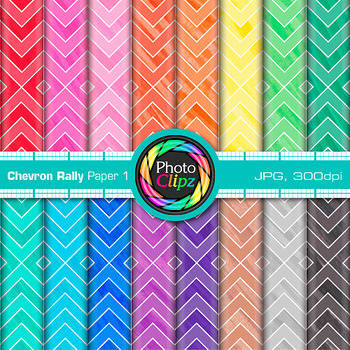 Chevron Rally Paper {Scrapbook Backgrounds for Worksheets, Resources} 1
