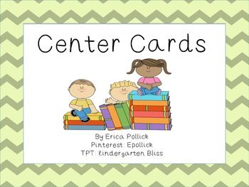 Chevron Reading Centers/Daily 5 Pocket Chart Cards (includes iPad & Smartboard)