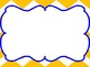 Chevron Reading Focus Wall Journeys based - Yellow & Blue