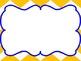 Chevron Reading Focus Wall Journeys based - Yellow & Blue