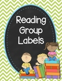 Chevron Reading Group Labels