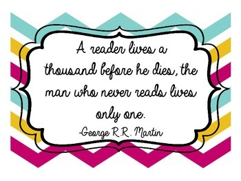 Chevron Reading Quotes Posters