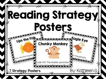Chevron Reading Strategy Posters
