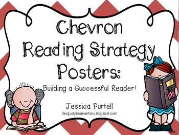 Chevron Reading Strategy Posters: Building a Successful Reader!