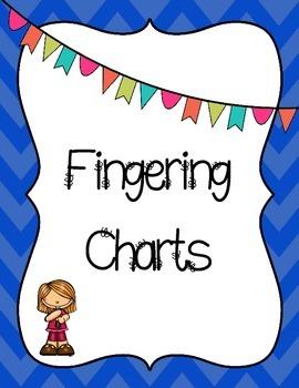 Chevron Recorder Fingering Chart Posters - chromatic