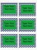 Chevron Rectangle Editable Labels 4x3