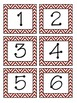 Chevron Red Month & Number Cards