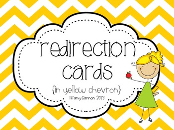 Chevron Redirection Cards in Yellow {a classroom management tool}