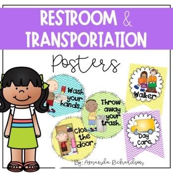 Restroom Reminders and Transportation Signs