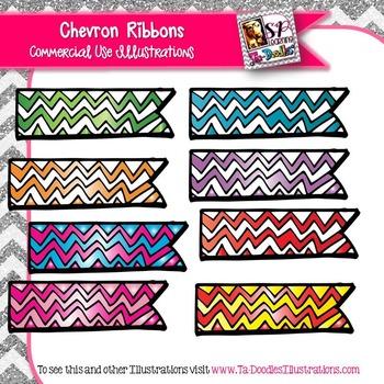 Chevron Ribbon Clip Art