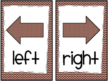 "Chevron ""Right/Left"" Directional Mini-Signs (freebie)"