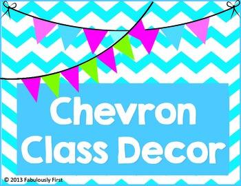 Chevron Room Decor (Blue Chevron)