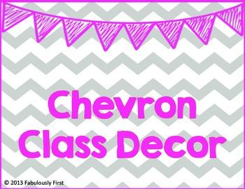 Chevron Room Decor (Gray Chevron)