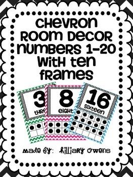 Chevron Room Number Decor {0-20}