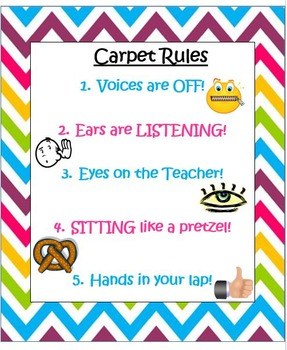 Chevron Rules and Procedures Posters