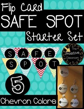 Chevron Safe Spot/ Safe Place Flip Cards-Conscious Discipline!