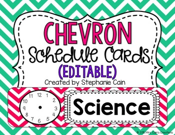 Chevron Schedule Cards (Editable)