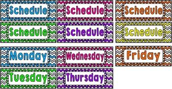 Chevron Schedule Cards!