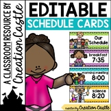 Classroom Schedule Cards: Colorful Chevron