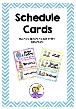 Chevron Schedule Cards - Over 100 options!