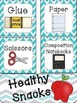Chevron School Supply Cards