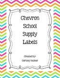 Chevron School Supply Labels