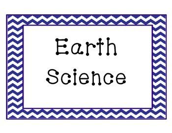 Chevron Science Strand Posters