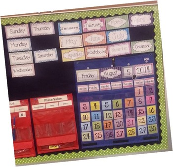Chevron & Scribble Dot Calendar Set