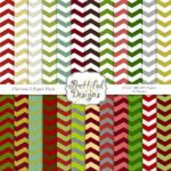Chevron Set 5 - Christmas Chevrons
