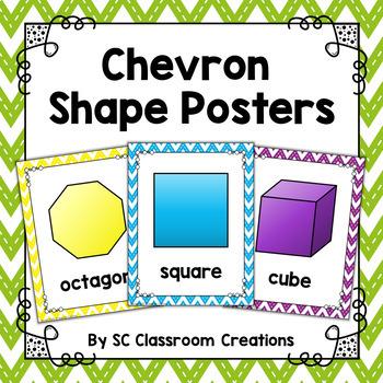 Chevron Shape Posters (Stitched Chevron)-Classroom Decor