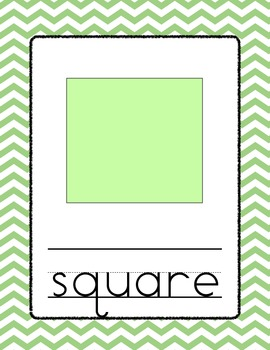 Chevron Shape Posters - Green
