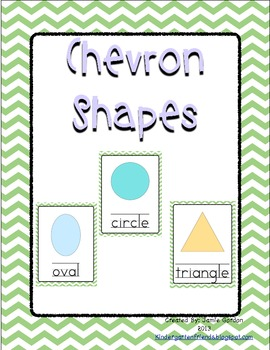 Chevron Shape Posters - Green