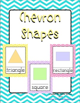 Multi Color Chevron Shape Posters