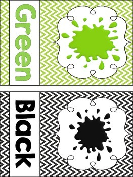 Chevron Shape and Color Word Classroom Decor Posters!