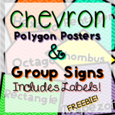Chevron Polygons Group Signs and Labels