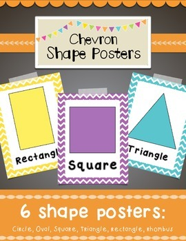 Chevron Shapes Posters